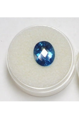 Swiss Blue Topaz Oval 11mmx9mm (4.37 cts)