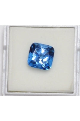 Swiss Blue Topaz Square 10mm (5.15 cts)