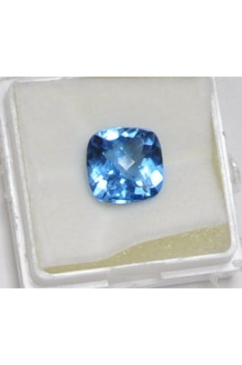 Swiss Blue Topaz Square 10mm (5.49 cts)