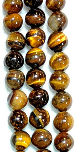 Tiger's Eye 10mm-10.5mm