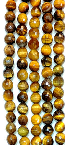 Tiger's Eye Faceted 6mm-6.5mm