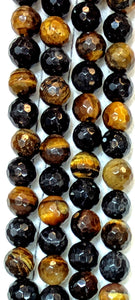 Tiger's Eye Faceted 8mm-8.5mm