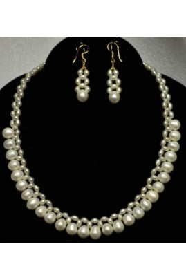 Unique Rice Pearl Necklace #RP-2