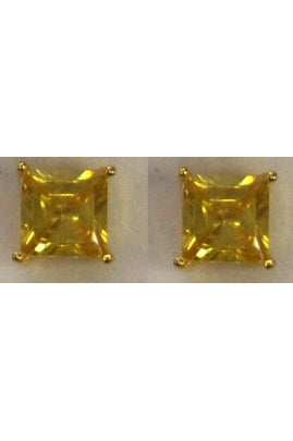 Yellow Cubic Zirconia Gold Plated