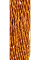 Faceted Yellow Topaz 2mm (13 inches long)