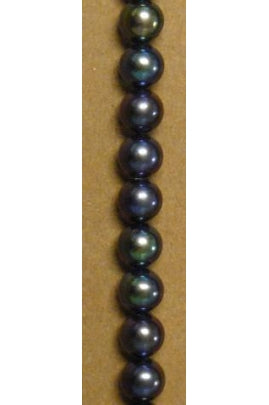 Dark Navy Blue Pearl 5mm-5.5 mm