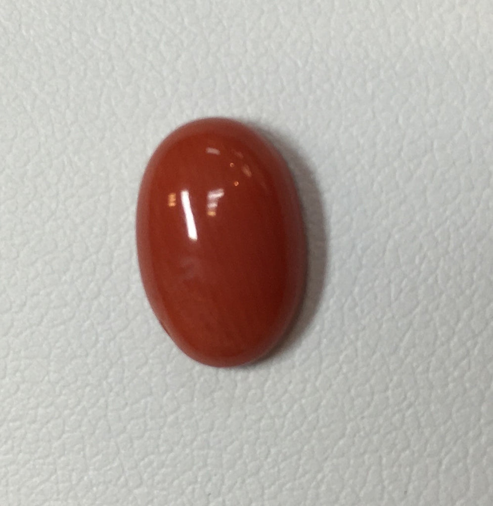Natural Italian Coral Cab 12mmx8mm (3.80 cts)