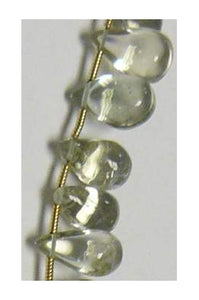 Green Amethyst Drops-8 inches long [6.5mm-7.5mm]x[8mm-10mm]