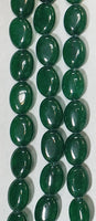 Emerald-color Jade Oval 10mmx14mm