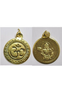 Golden-color OM Hanuman Pendant 24.5mm (SOLD PER SINGLE PENDANT)
