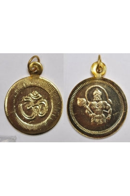 Golden-color OM Hanuman Pendant 25mm (SOLD PER SINGLE PENDANT)