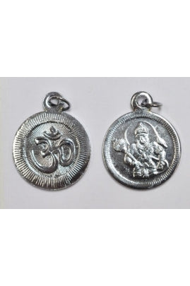Silver-color OM Hanuman Pendant 25mm (SOLD PER SINGLE PENDANT)