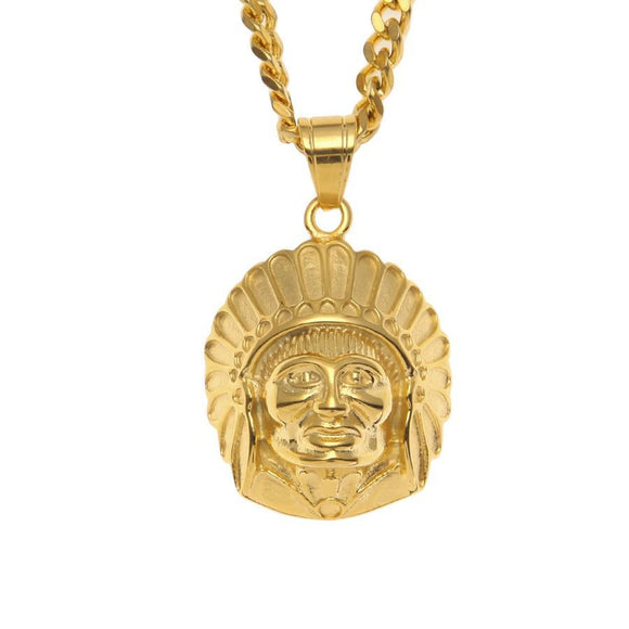NPG015S - Iced Chief Head Necklace