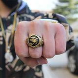 RG020S - Eye of Horus Ring - Noirdesigner.com
