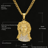 NPGD048S - Iced King Jesus Necklace - Noirdesigner.com