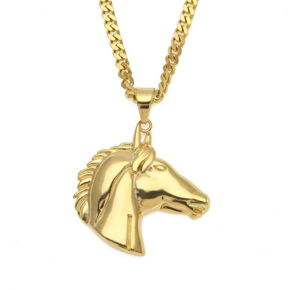 NPG040S - LIMITED EDITION Cuban Horse Head Necklace - SPECIAL DEAL 50% OFF Plus FREE Shipping!
