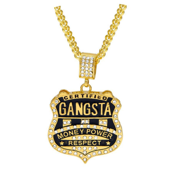 NPGSD06C - Cuban Gangsta Square Necklace