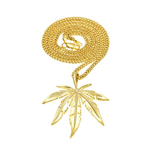 NPGS021C - Cuban Cannabis Leaves Necklace