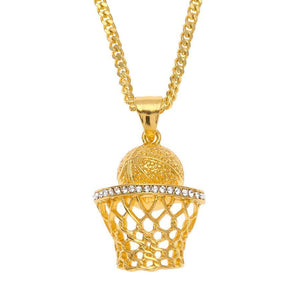 BNP04 - Diamond Basketball-Net Necklace - SPECIAL DEAL 70% OFF Plus FREE Shipping! - Noirdesigner.com