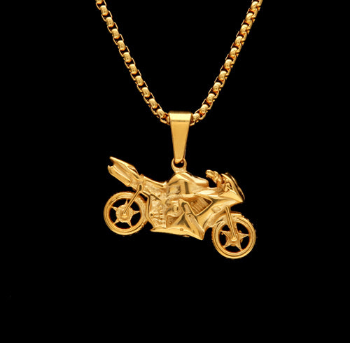 NPGS030SC - Big Bike Motorcycle Necklace LIMITED EDITION SPECIAL DEAL 70% OFF Plus FREE Shipping! - Noirdesigner.com