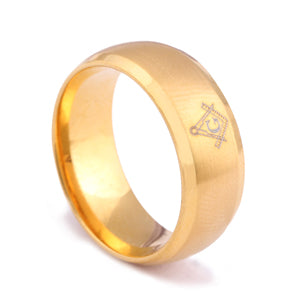 RG0019 - Tungsten Carbide Mason Ring - Noirdesigner.com