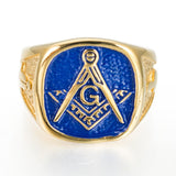 RGD02B - Blue Mason Ring - LIMITED EDITION SPECIAL DEAL 70% OFF Plus FREE Shipping! - Noirdesigner.com