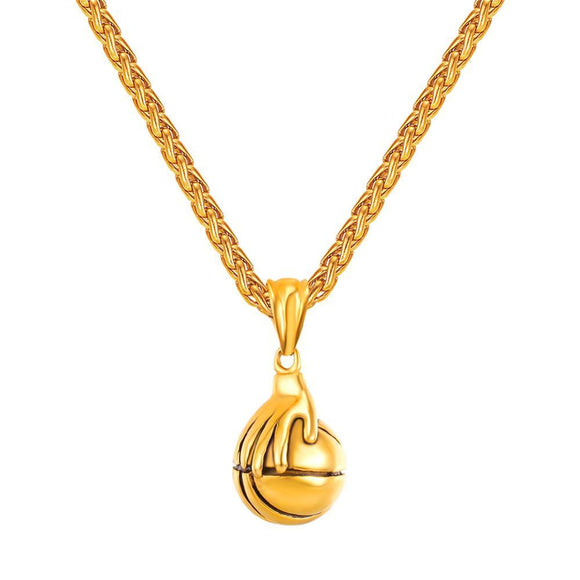 BNP02 - Hand Held Basketball Necklace and Pendant - LIMITED EDITION SPECIAL DEAL 70% OFF Plus FREE Shipping! - Noirdesigner.com