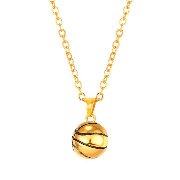 BNP03 - Basketball Necklace and Pendant - LIMITED EDITION SPECIAL DEAL 70% OFF Plus FREE Shipping! - Noirdesigner.com