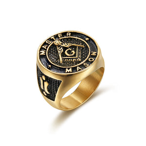 RG0015 - Master Mason Ring - SPECIAL DEAL 70% OFF Plus FREE Shipping! - Noirdesigner.com