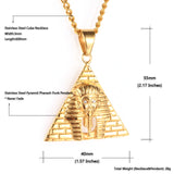 NPG082S - Iced Pyramid Pharoah Necklace - Noirdesigner.com