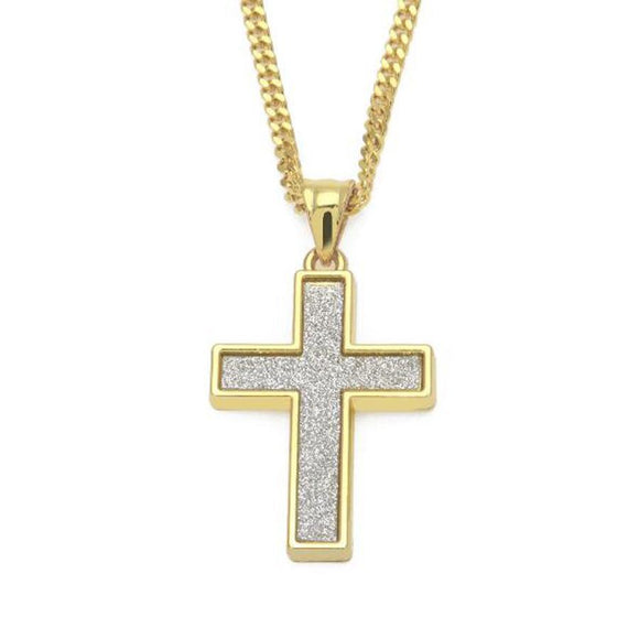 NPGSD038S - Iced Out Cross Necklace - Noirdesigner.com
