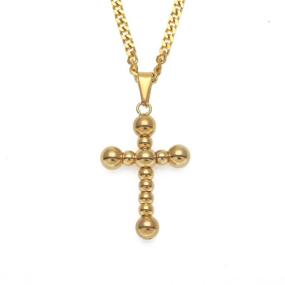 NPG086S - Cuban Rotated Cross Necklace