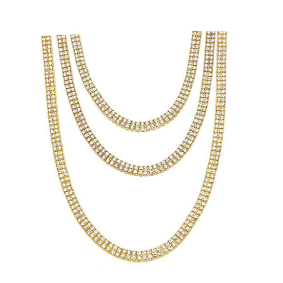 NCGSBD01A - Double Layer Iced Necklace - SPECIAL DEAL 50% OFF Plus FREE Shipping!