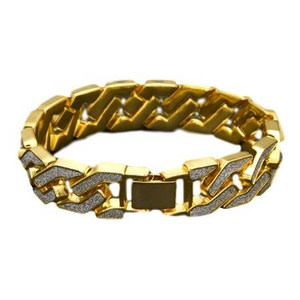 BGSD03A - Diamond Gringo Link Bracelet-SPECIAL DEAL 70% OFF Plus FREE Shipping!
