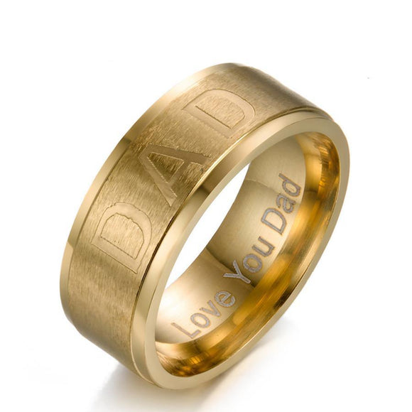 RGSRS019S - Love Dad Ring - LIMITED TIME INTRODUCTORY GIVEAWAY (FREE ITEM) - Noirdesigner.com