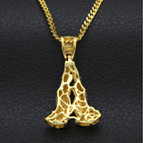 NPGSD015C - Diamond Iced Praying Hands Necklace - Noirdesigner.com