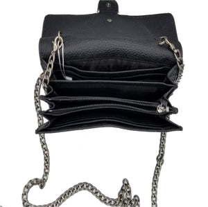 SMALL BLACK LEATHER CROSSBODY BAG