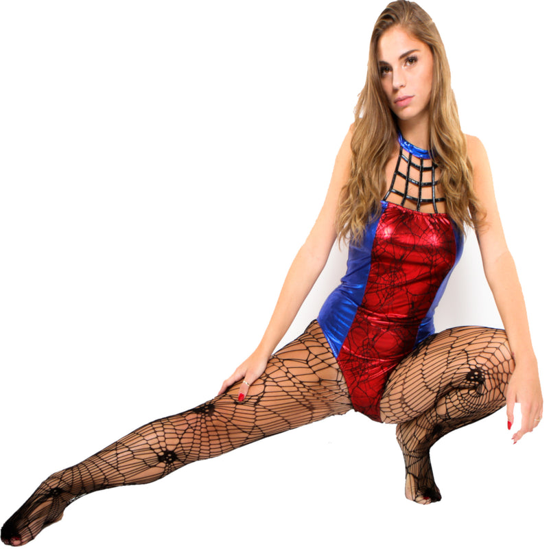 Spider Woman Bodysuit Sexy Halloween Costume
