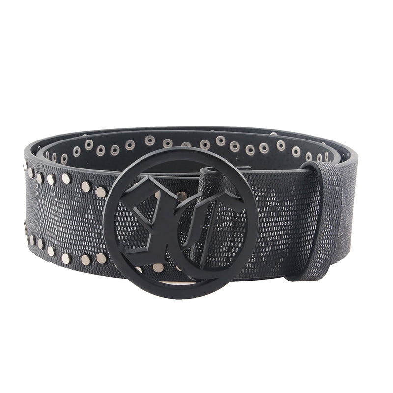 Alternative Snake Skin Leather Studded Designer Belt