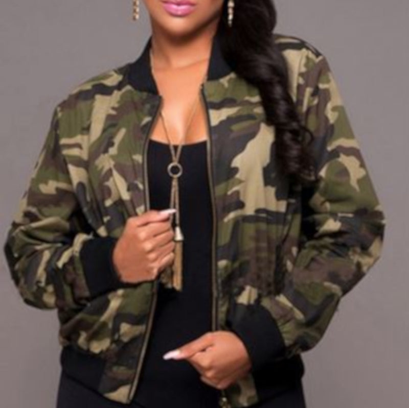 Camouflage Military Bomber Jacket Army Outwear