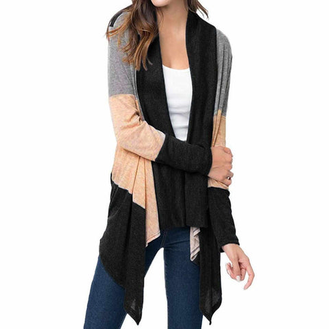 Black Casual Light Weight Cardigan Sweater Small / Black Cardigan Edgy Couture