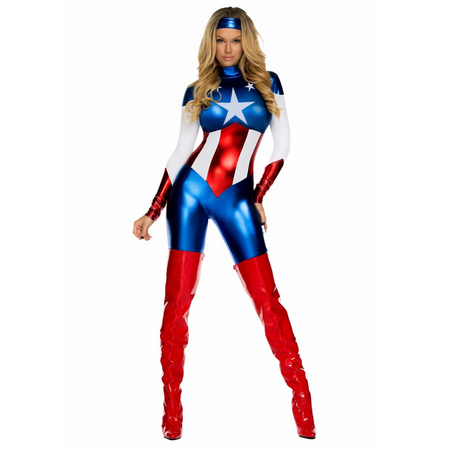 Captain America Marvel Cosplay Jumpsuit Costume  Costumes Edgy Couture