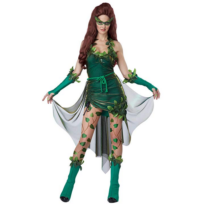 Ladies Green Poison Ivy Cosplay Halloween Costume X-Large / Green / Polyester Costumes Edgy Couture