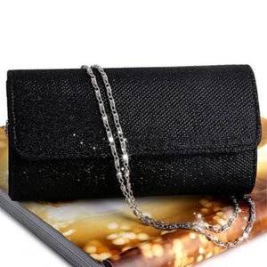Sparkling Black Bridal Clutch Envelope Handbag