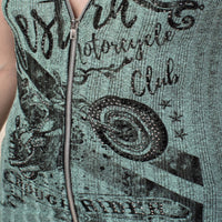Vintage Teal Green Motorcycle Western Tank Top Camisole
