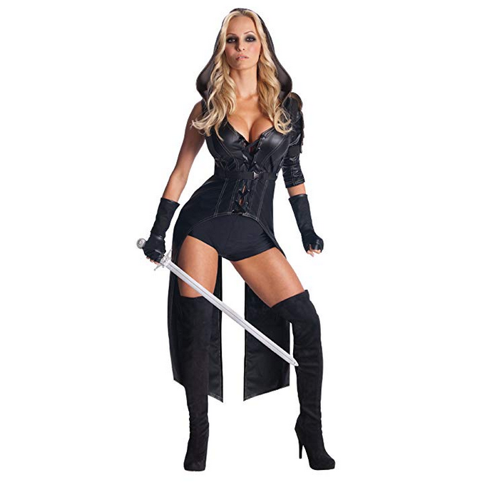 Women's Hooded Sucker Punch Anti Hero Cosplay Costume Large / Black / Polyester Costumes Edgy Couture