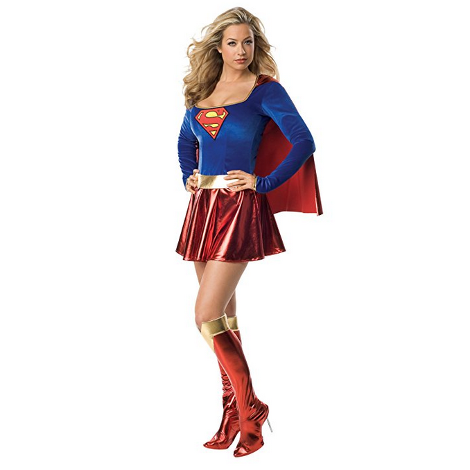 Women's Long Sleeve Super Girl Cosplay Costume  Costumes Edgy Couture