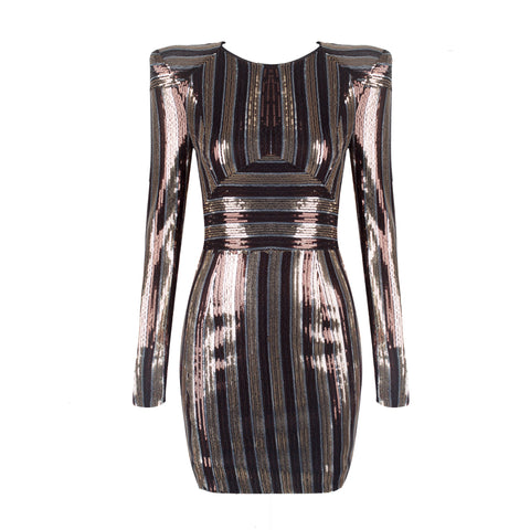 'Sophia' sparkling Mini Bodycon Dress