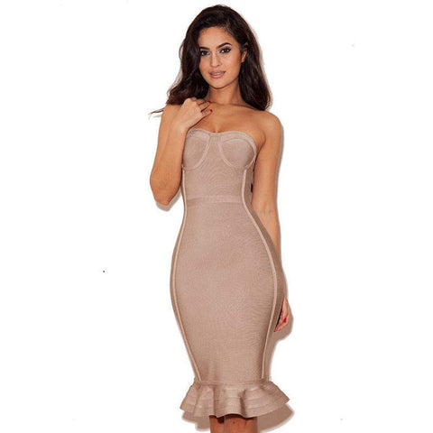 'Venus' Bustier Midi Bandage Dress