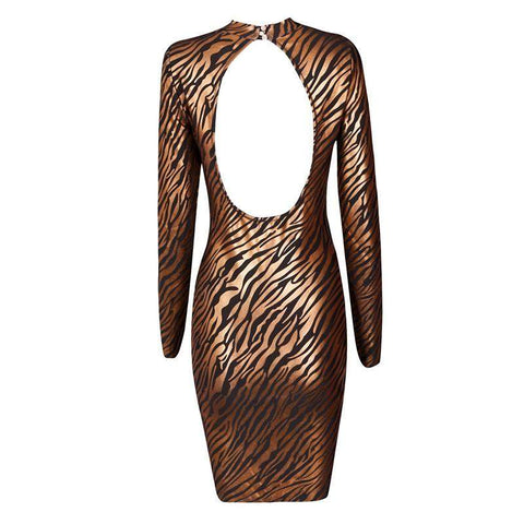 'Maya' High Neck Mini Bodycon Dress